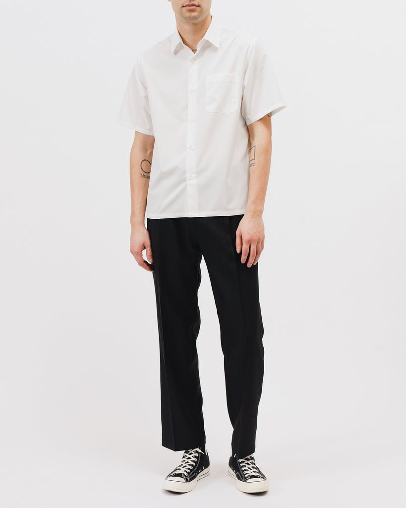 Mesh SS Shirt - Natural White - Maiden Noir