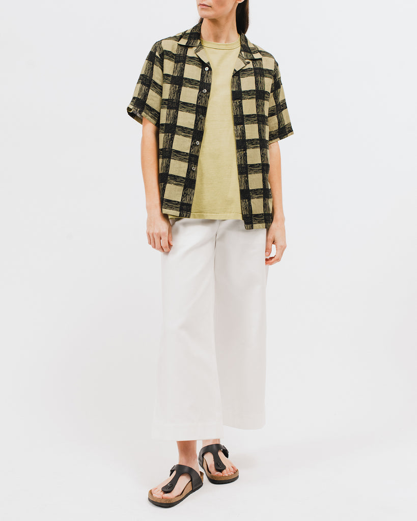 Brush Linen SS Shirt - Olive - Maiden Noir