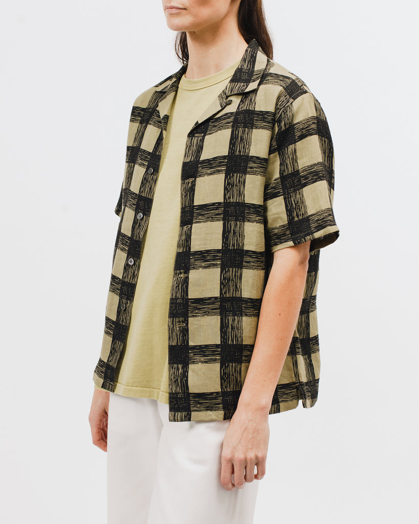 Brush Linen SS Shirt - Olive - [product _vendor]