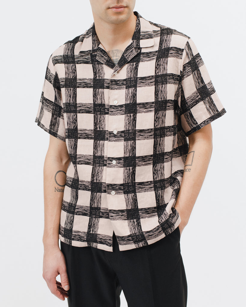 Brush Linen Shirt - Villa Pink - Maiden Noir