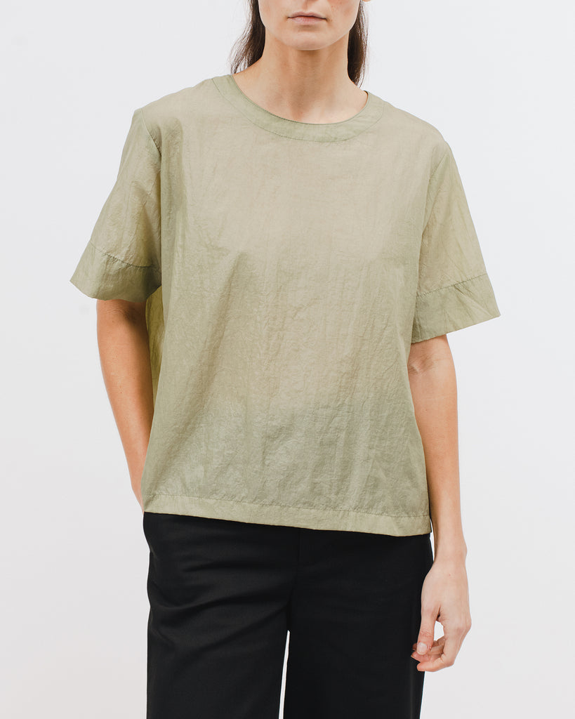 Boxy SS Shirt - Seaweed - Maiden Noir