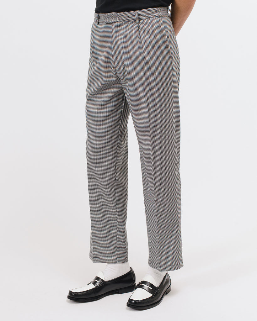 Pleated Suit Trouser - Houndstooth - [product _vendor]