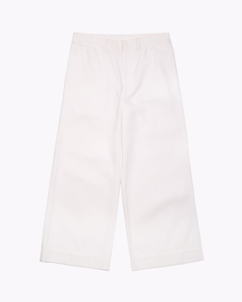 High Waisted Trouser - Natural