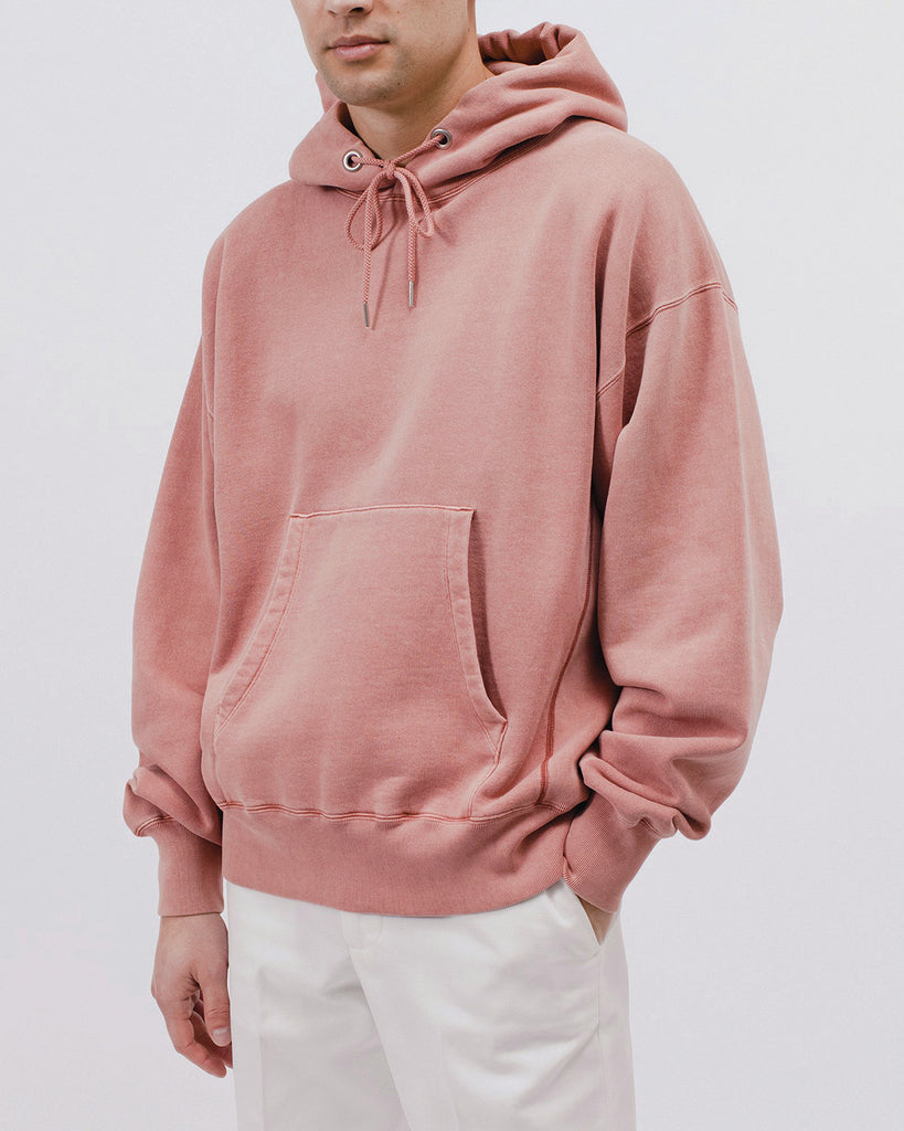 Natural Dyed Hoodie Fleece - Brick - Maiden Noir