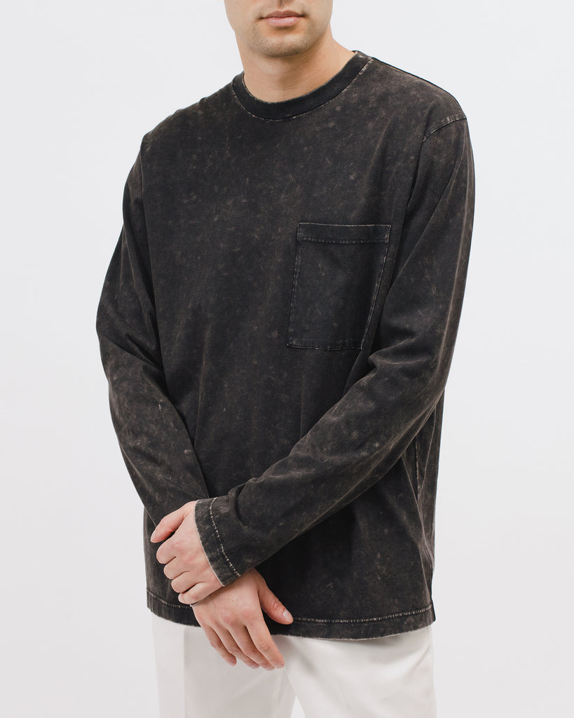 Natural Dyed Block L/S Jersey - Graphite - [product _vendor]