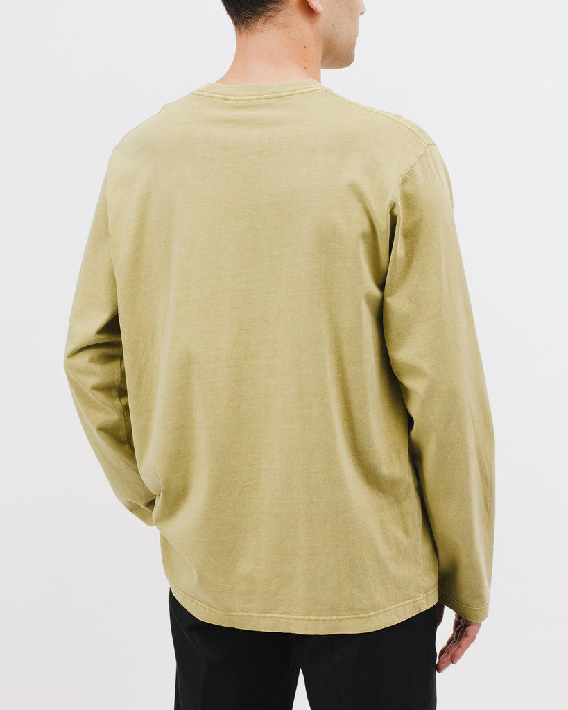 Natural Dyed Block L/S Jersey - Moss - [product _vendor]