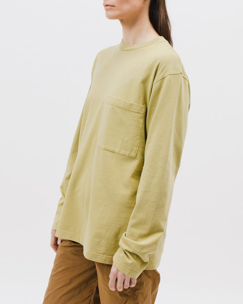 Natural Dyed Block LS Jersey - Moss - [product _vendor]