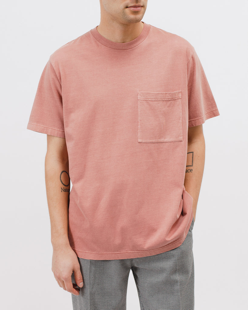Natural Dyed Block SS Jersey - Brick - [product _vendor]