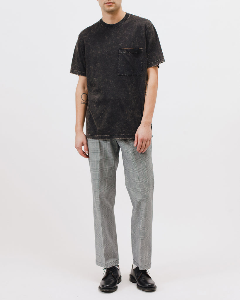 Natural Dyed Block S/S Jersey - Graphite - Maiden Noir