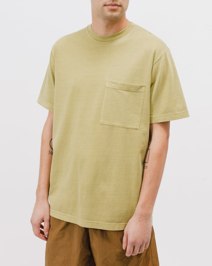 Natural Dyed Block SS Jersey - Moss - [product _vendor]