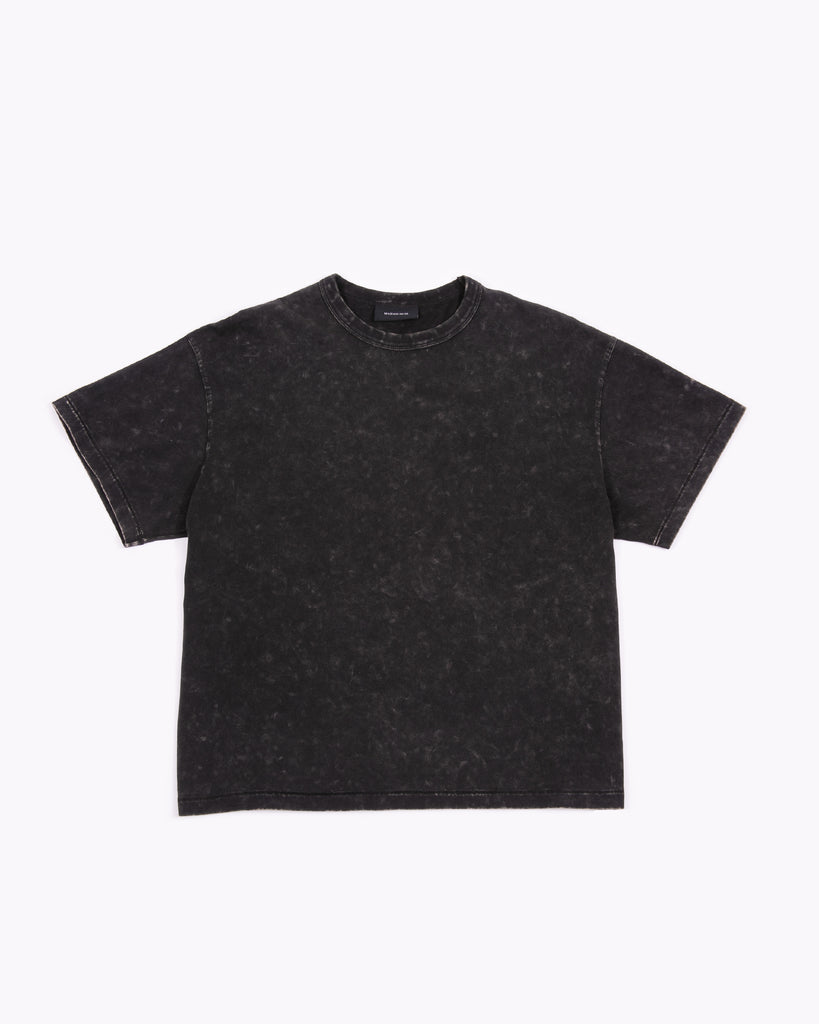 Natural Dyed Crop Jersey - Graphite W