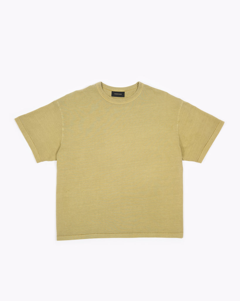 Natural Dyed Crop Jersey - Moss W