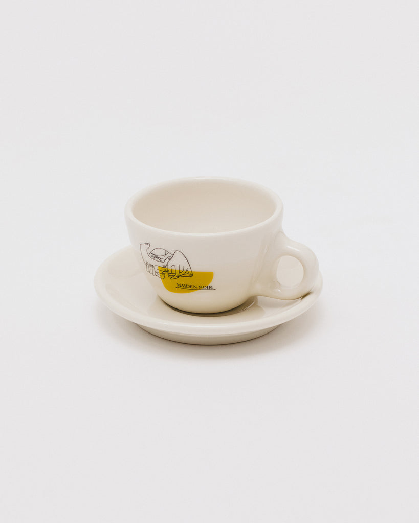 Prunier Cup and Saucer - Natural - Maiden Noir
