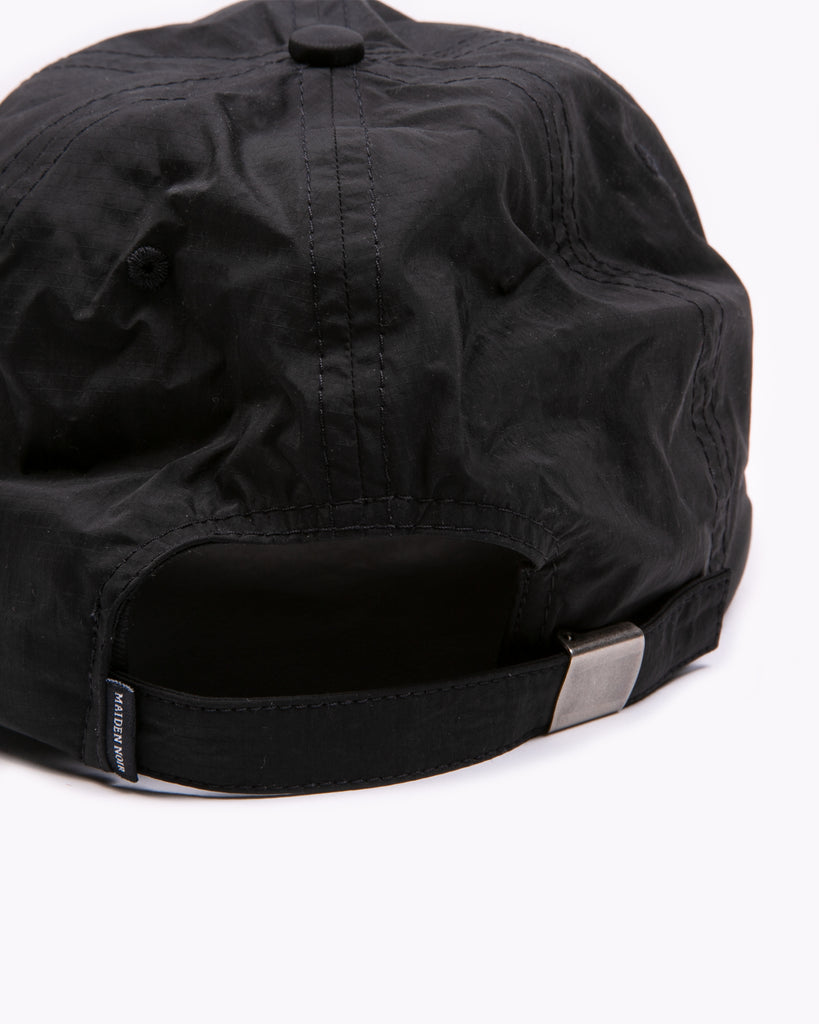 Dyed Nylon Ball Cap - Black
