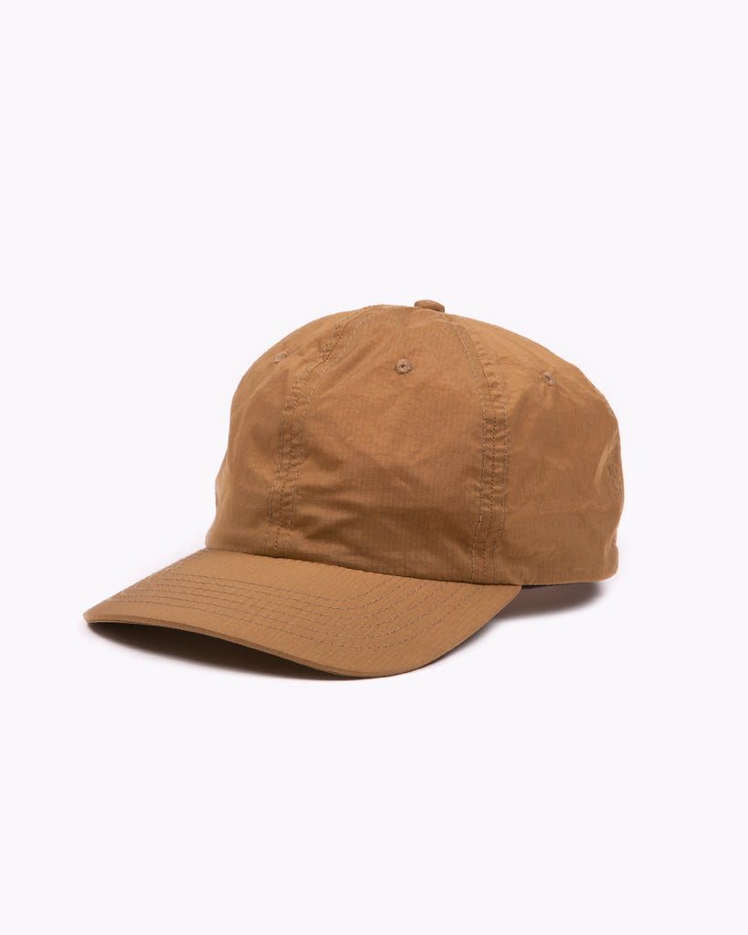 Dyed Nylon Ball Cap - Tobacco