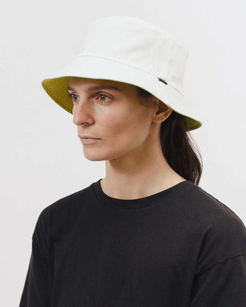 Reversible Bucket Cap - Natural/Chartreuse - [product _vendor]