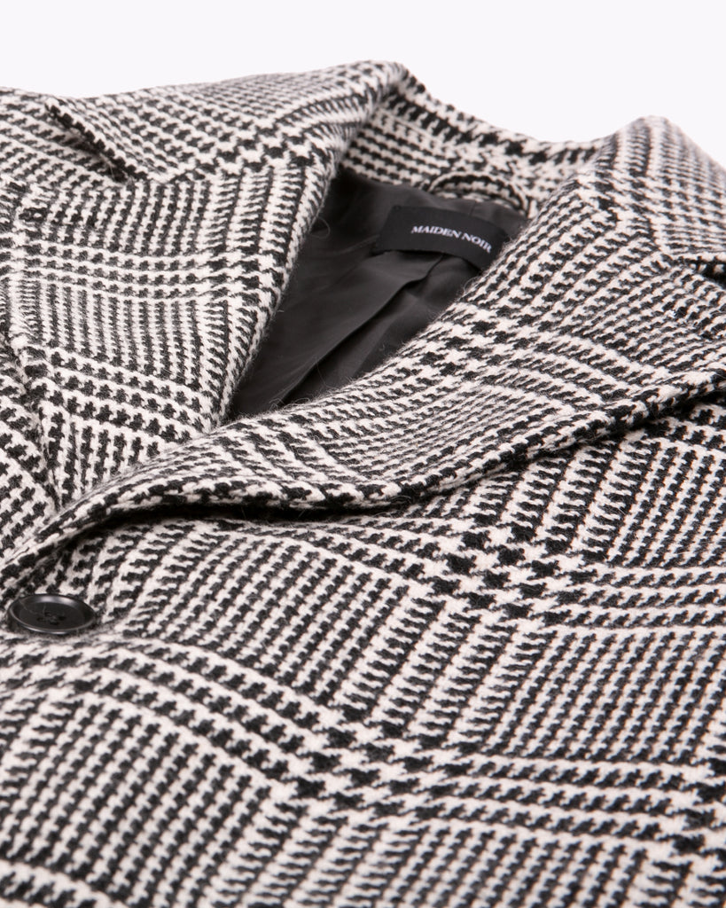 Wool Overcoat - Glen Plaid