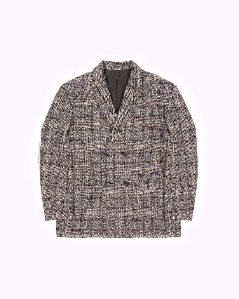 Double Breasted Jacket - Glen Plaid