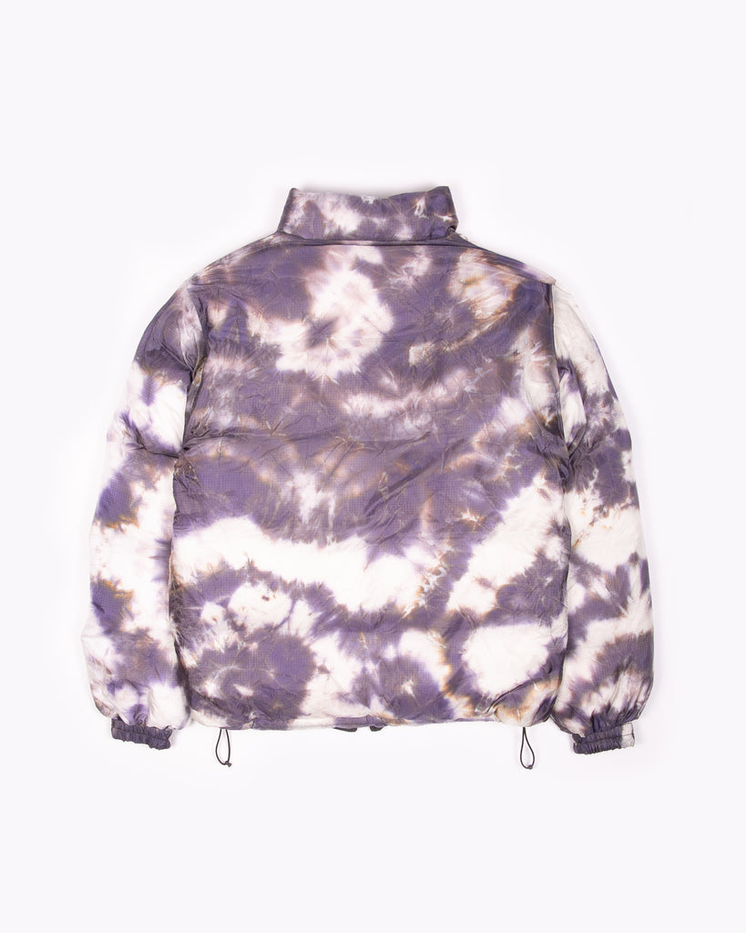 Reversible Puffer Jacket - Black/Purple Ash Dyed
