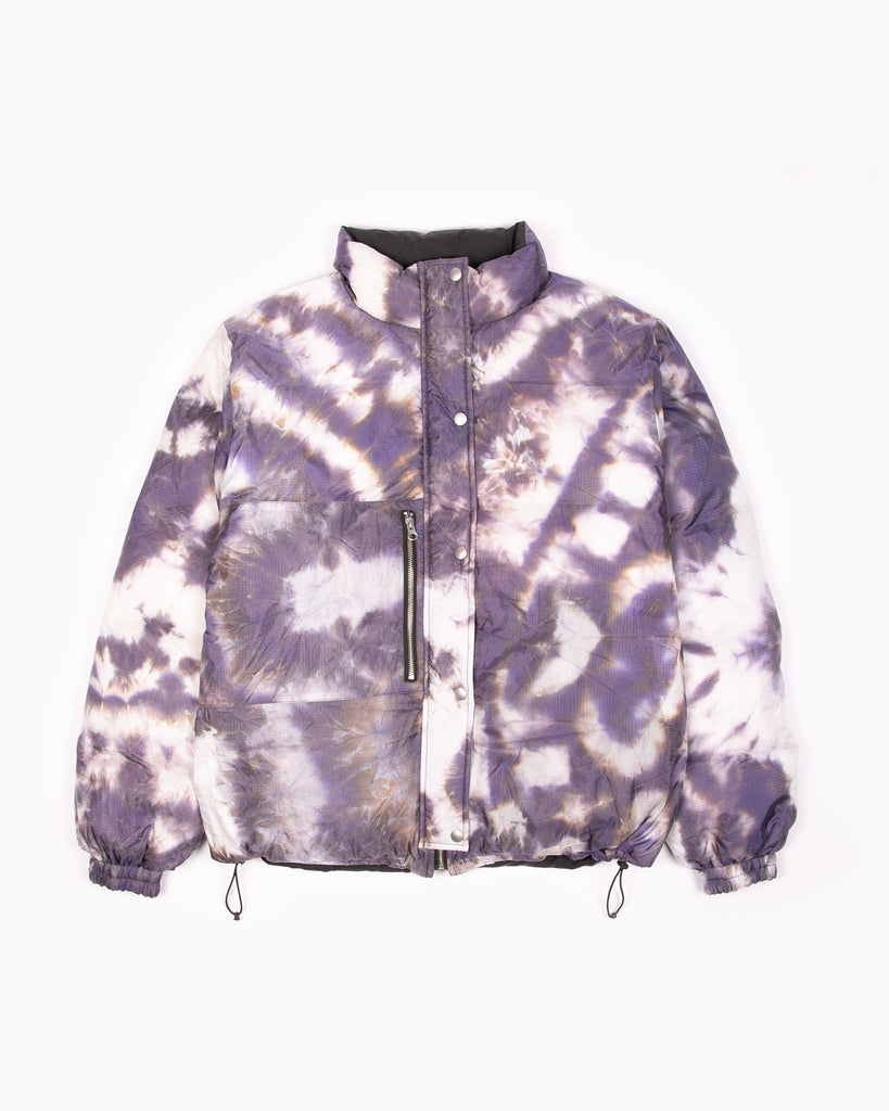 Reversible Puffer Jacket - Black/Purple Ash Dyed W