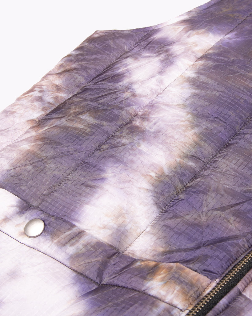 Reversible Insulated Vest - Black/Purple Ash Dyed