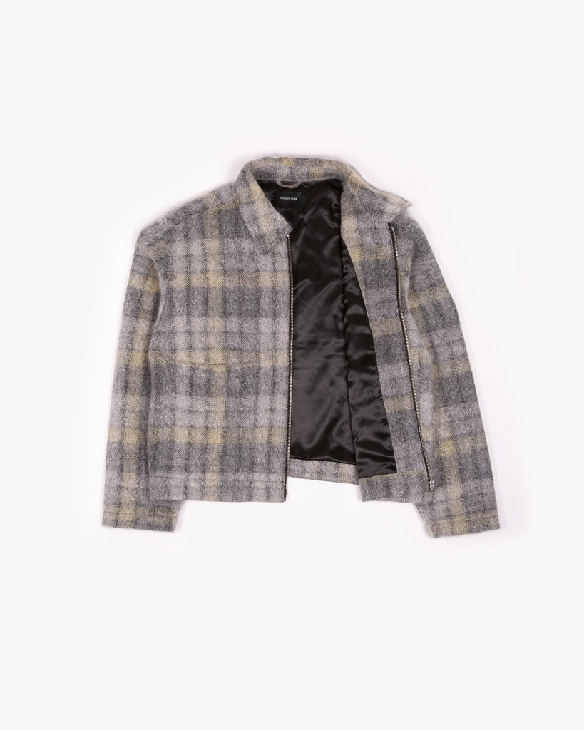 Zip Chore Coat - Fade Plaid Wool