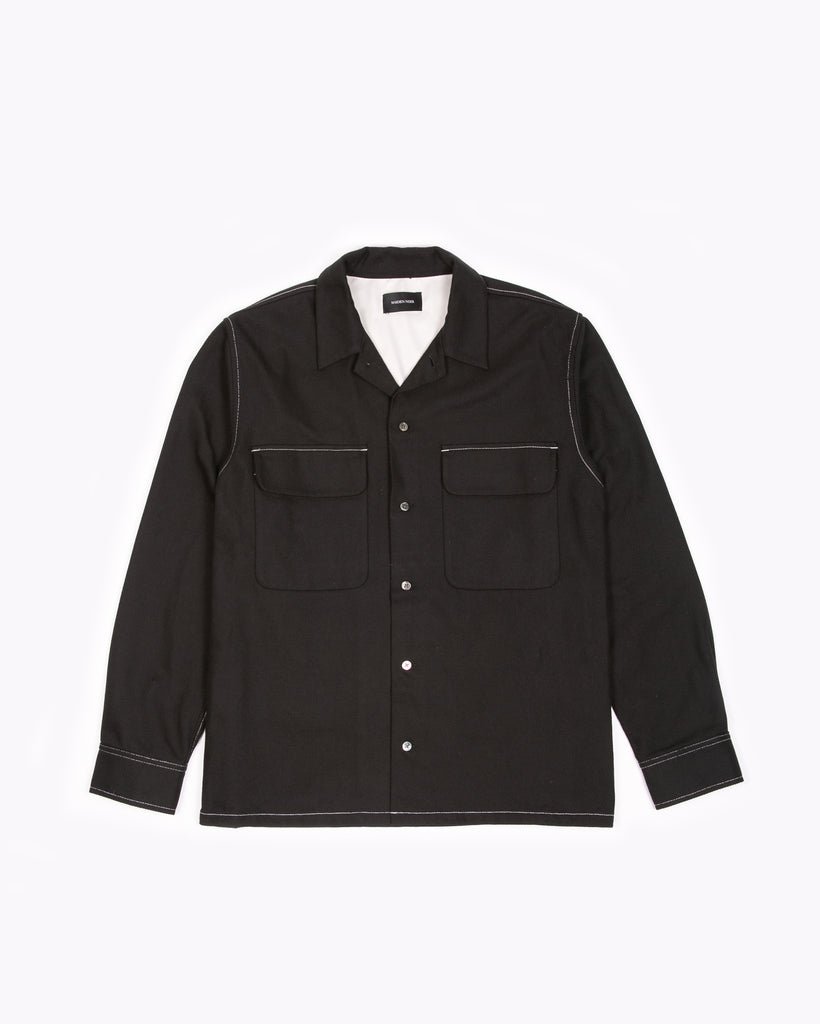 L/S Boxy Shirt - Black