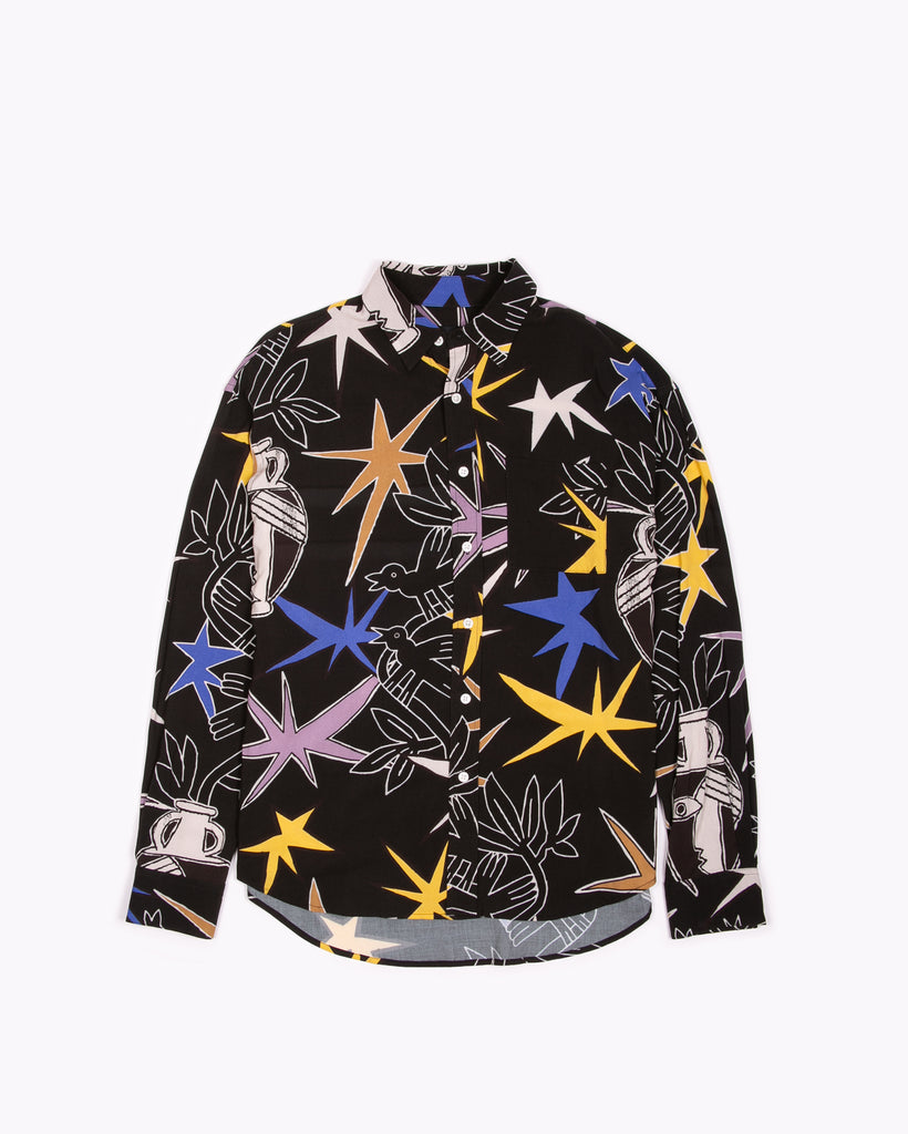 L/S Pattern Shirt - Edd Cox Art W