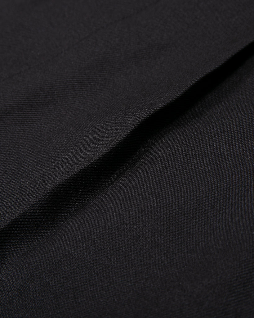Pleated Suit Trouser - Black Sharkskin