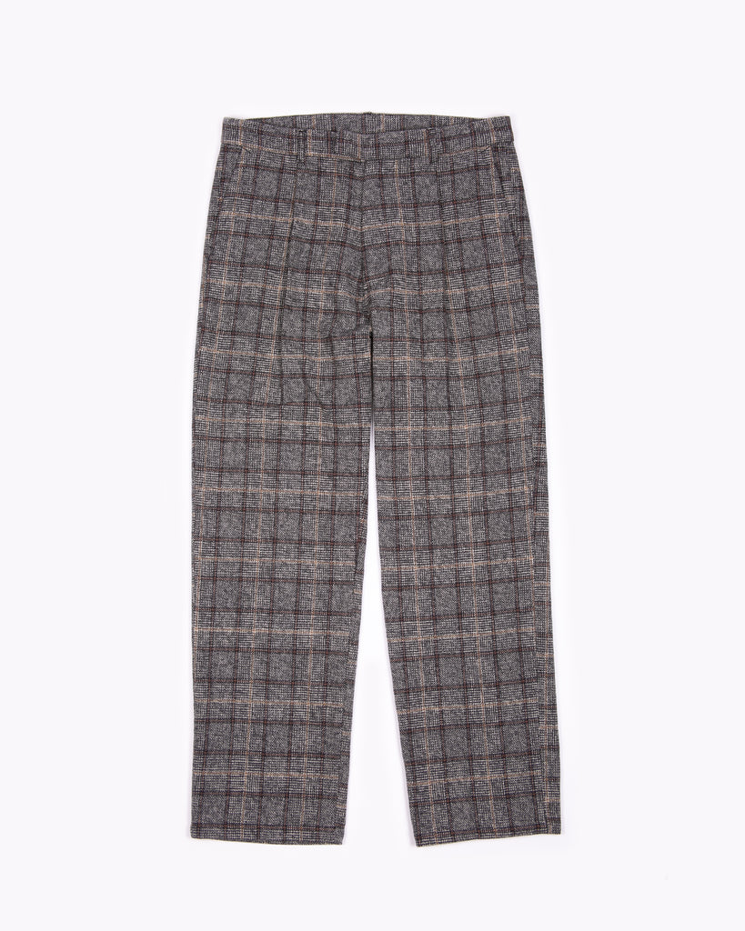 Pleated Suit Trouser - Glen Plaid