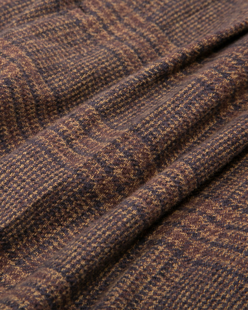 Elastic Trouser - Brown Plaid