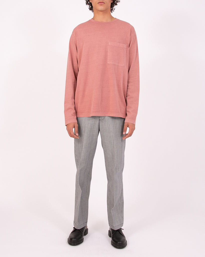 Natural Dyed Block LS Jersey - Brick