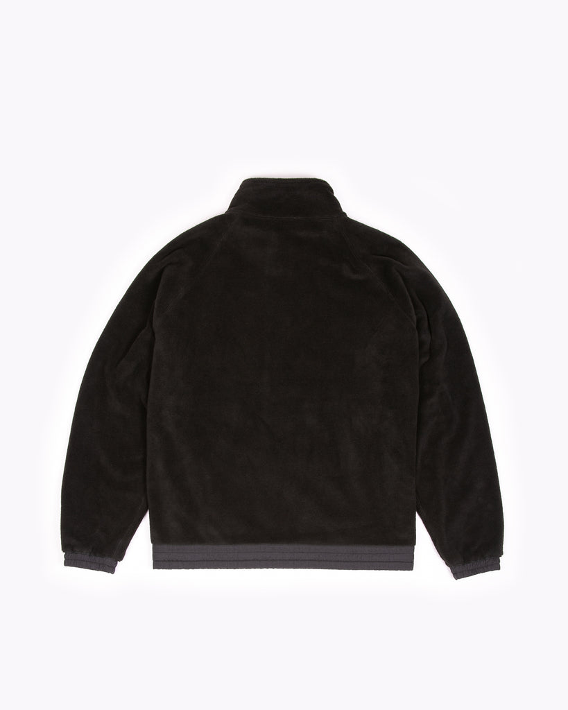 Mock Zip Fleece - Black