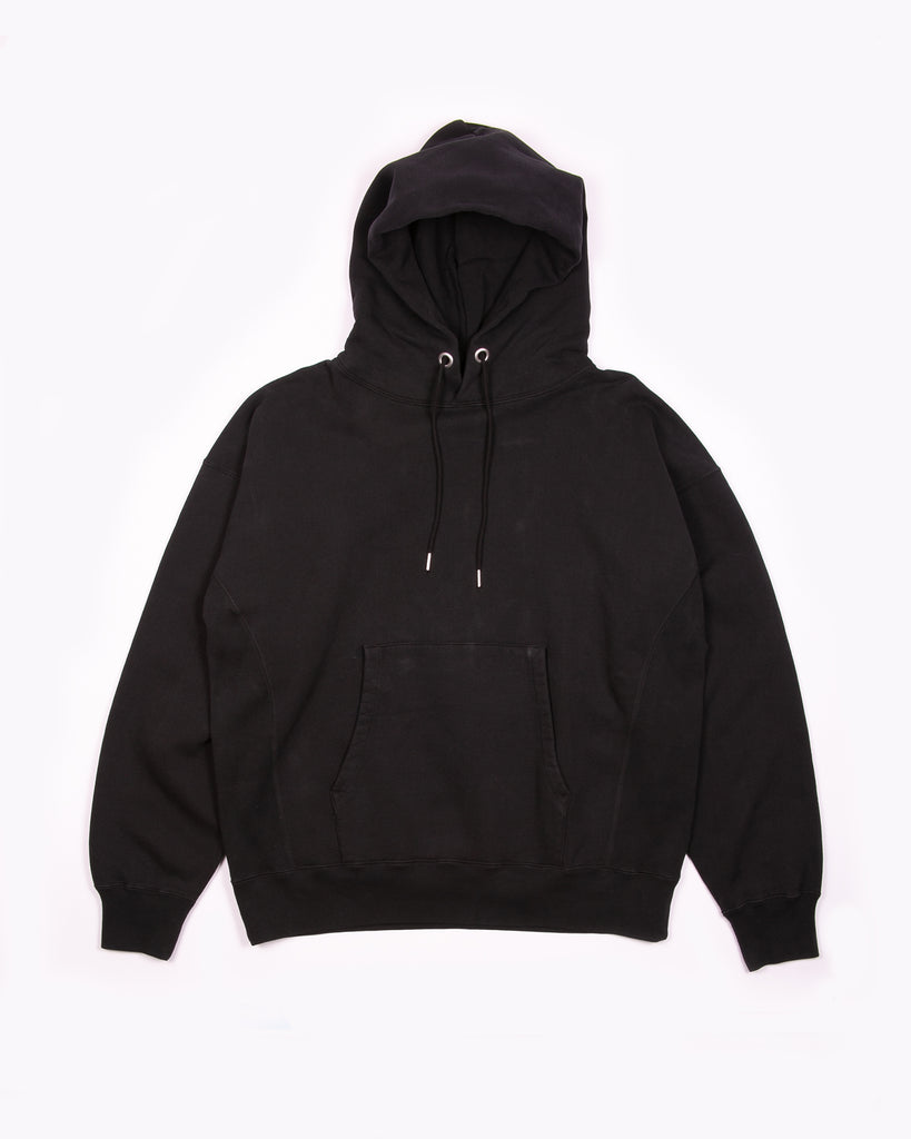 Natural Dyed Hoodie Fleece - Black