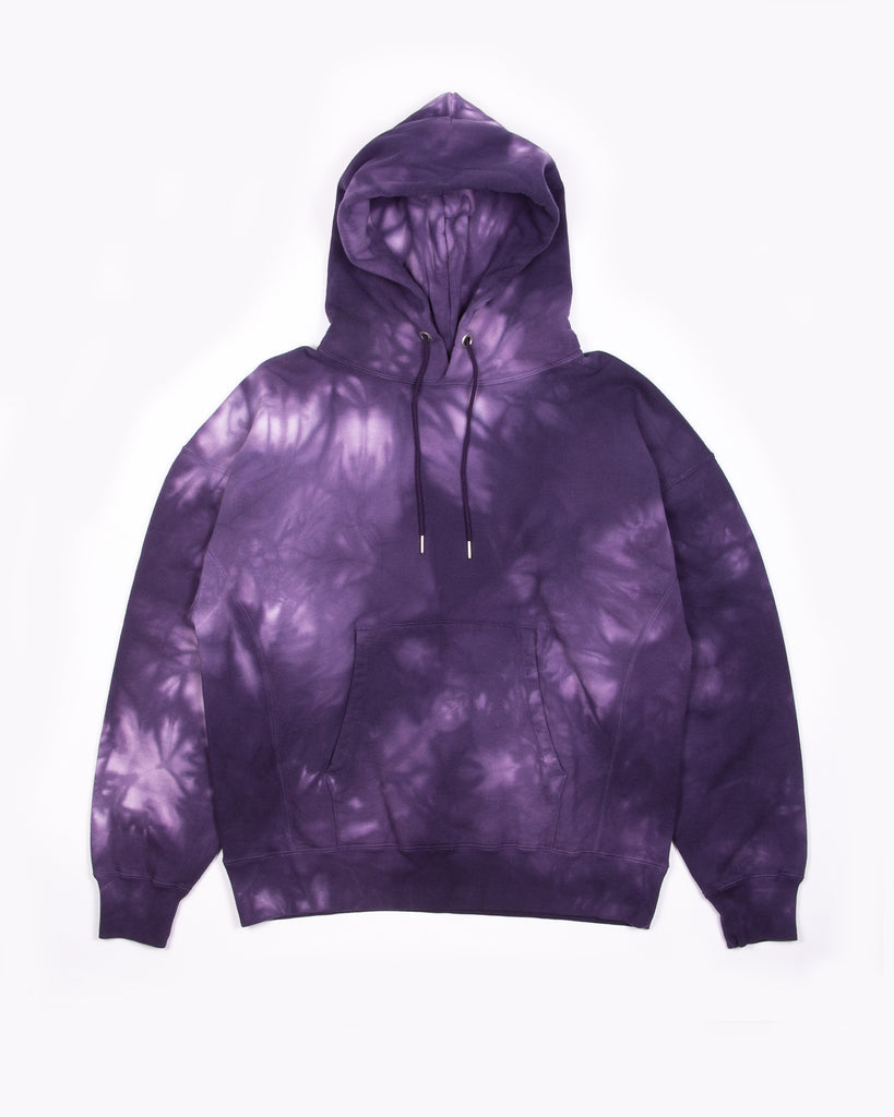 Natural Dyed Hoodie Fleece - Purple Ash Dyed W