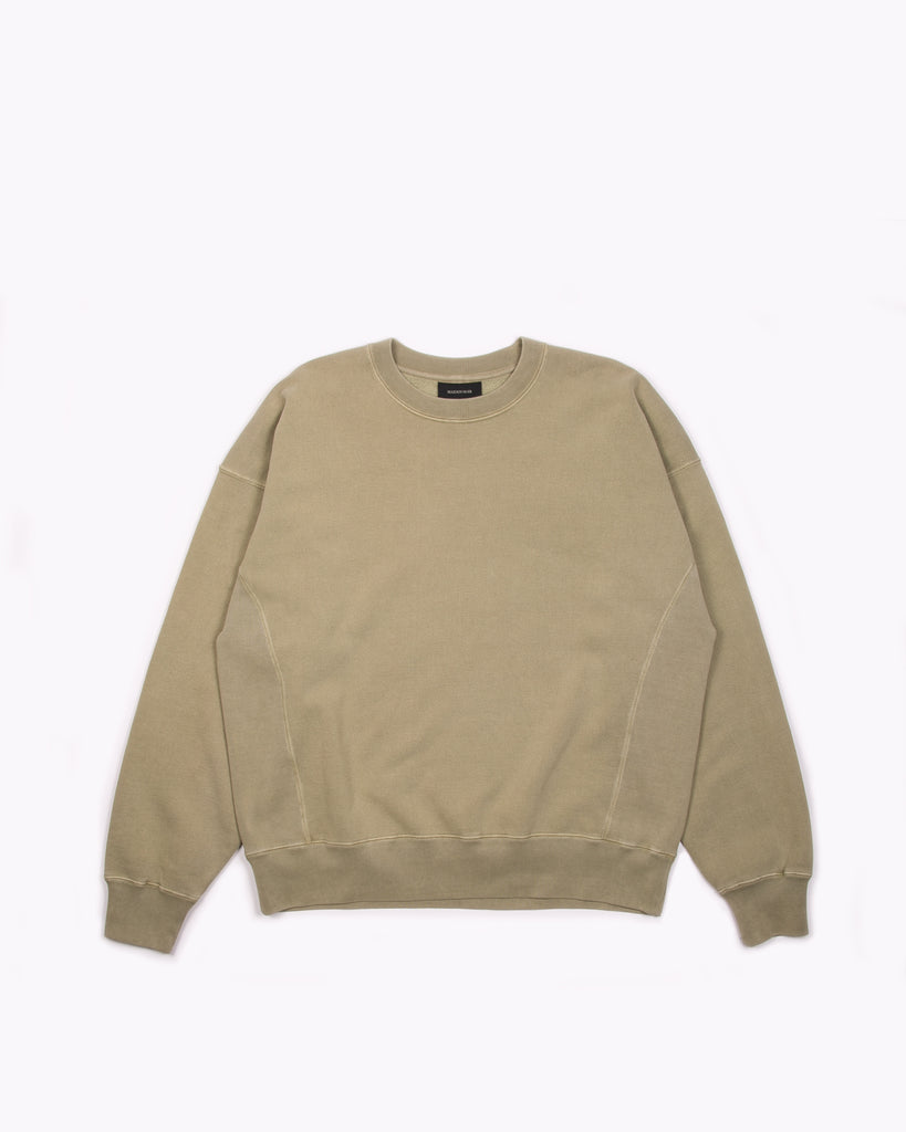 Natural Dyed Crew Fleece - Lichen
