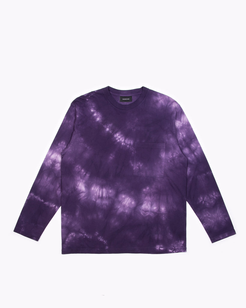 Natural Dyed Block L/S Jersey - Purple Ash Dyed