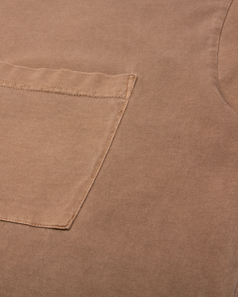 Natural Dyed Block S/S Jersey - Bark W