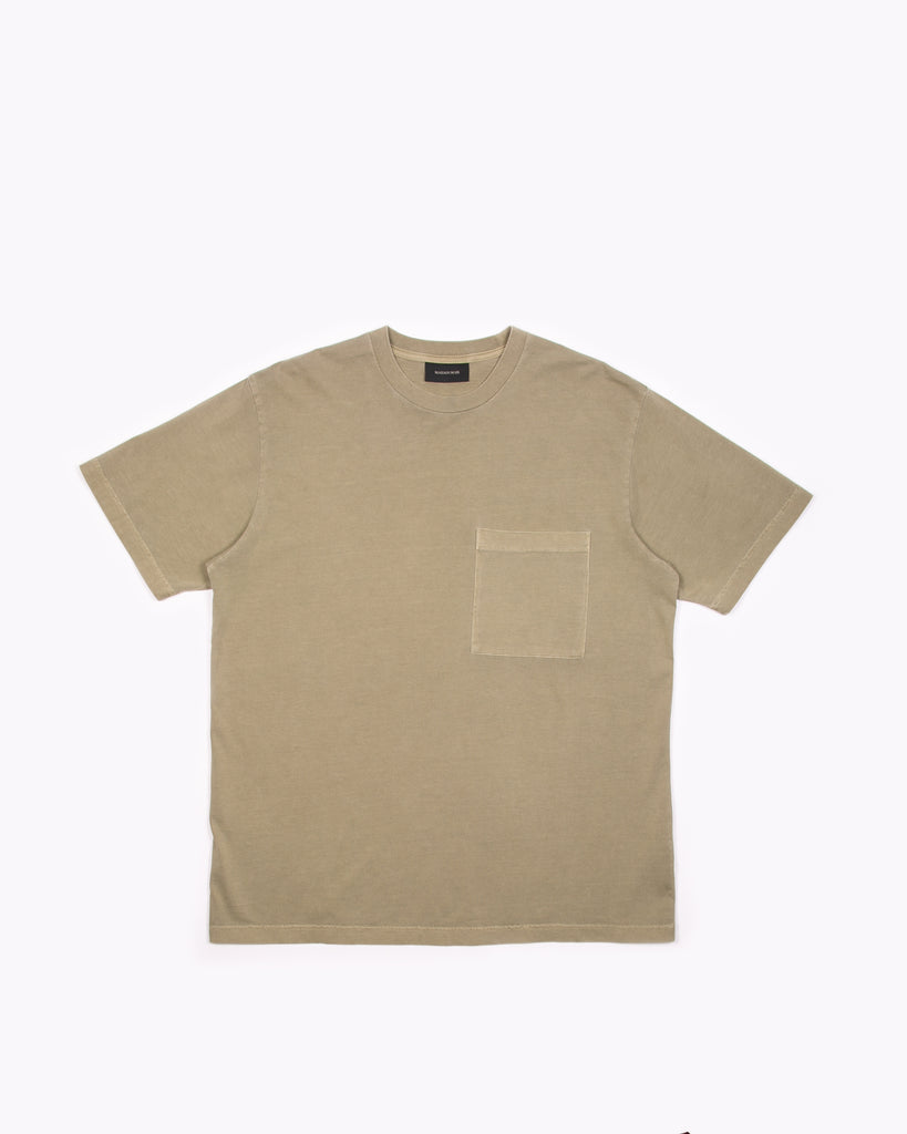 Natural Dyed Block S/S Jersey - Lichen