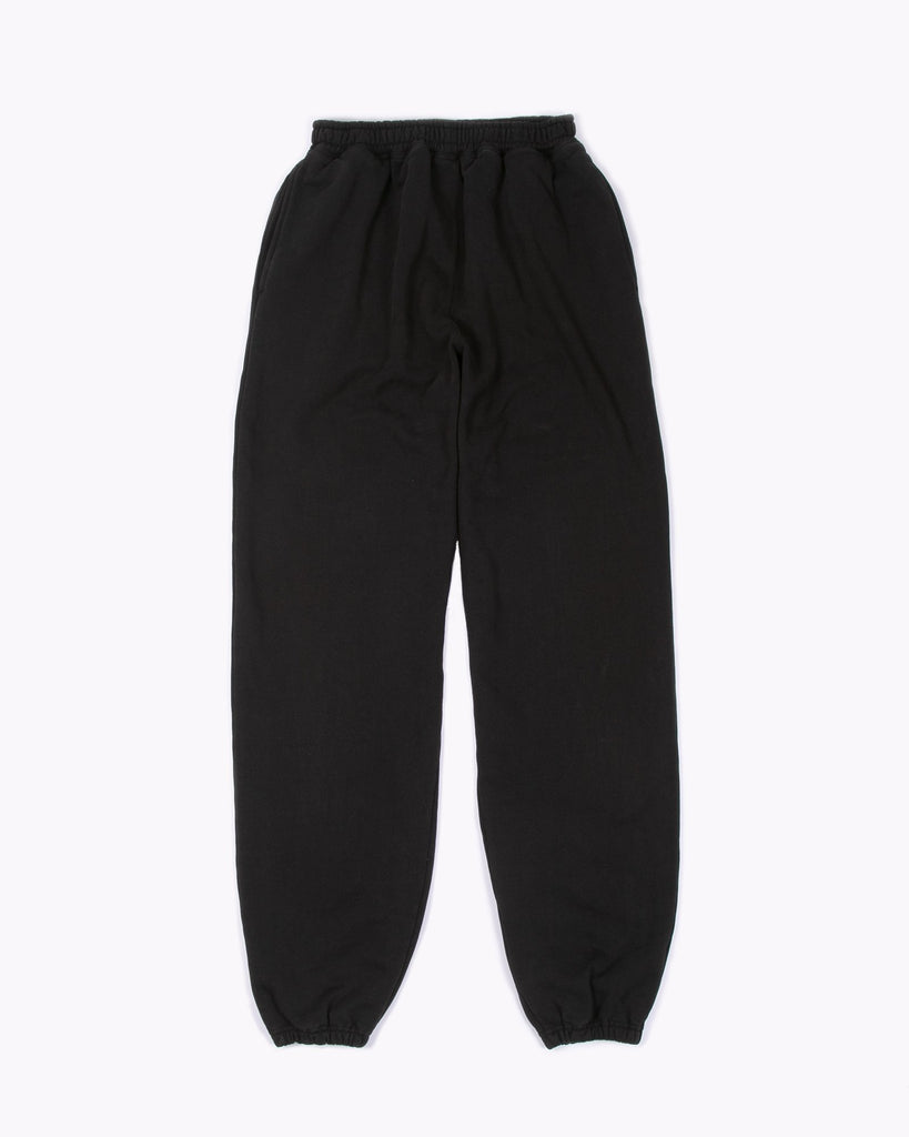 Natural Dyed Fleece Trouser - Black