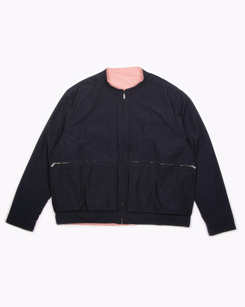 Reversible Bomber Jacket - Navy/Pink