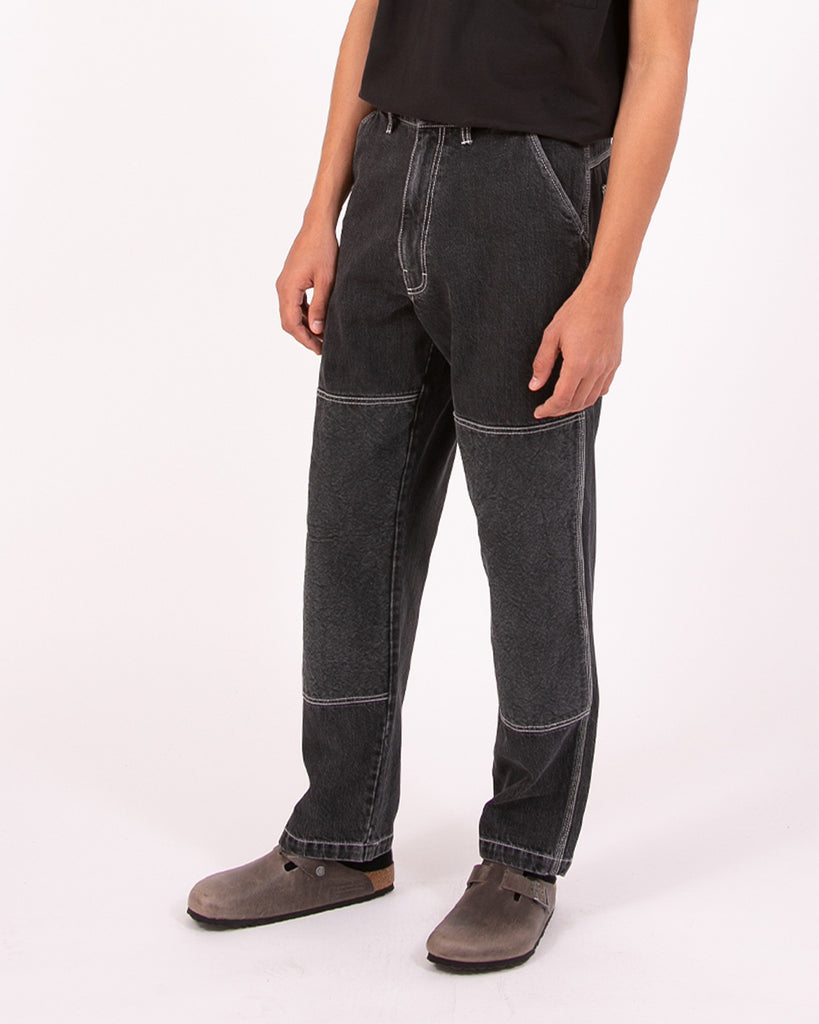 Double Knee Trouser - Black