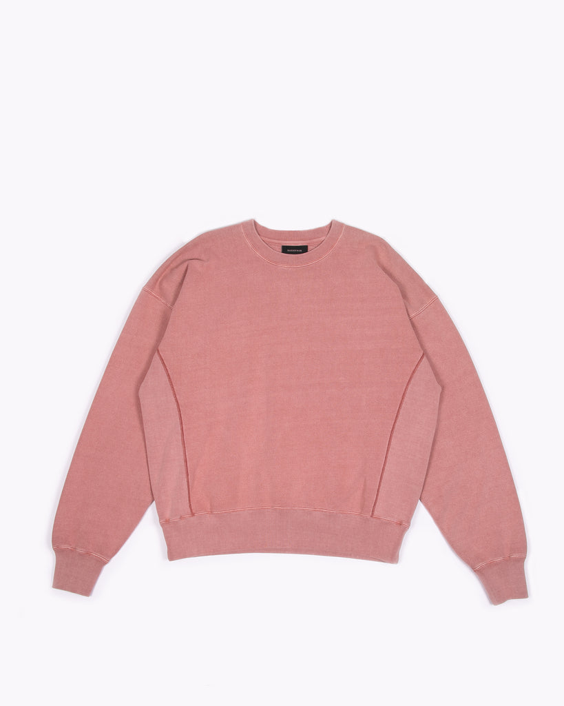 Natural Dyed Crew Fleece - Brick W