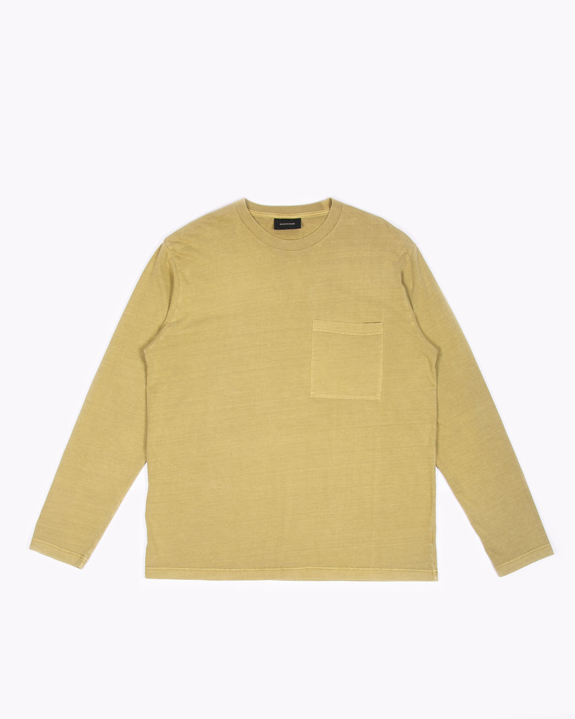 Natural Dyed Block LS Jersey - Moss W