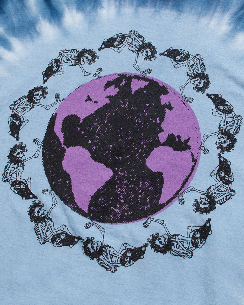 Dead Plant World SS Tee - Blue/Purple Tie Dye
