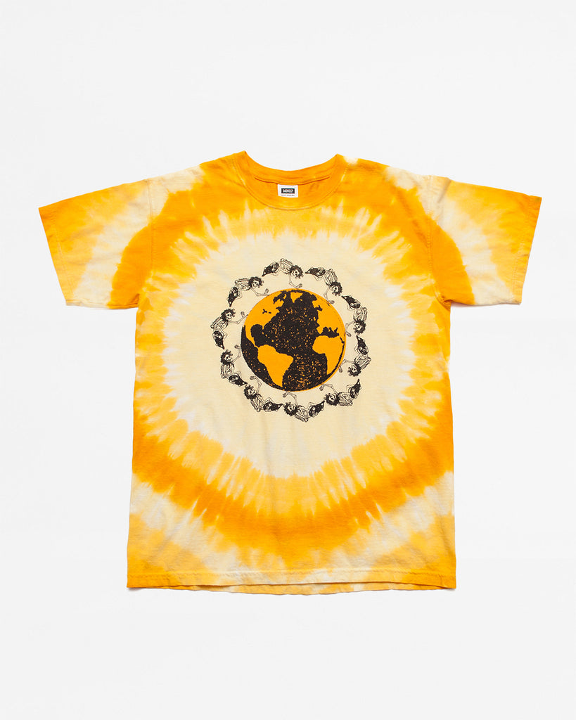 Dead Plant World SS Tee - Yellow/Orange Tie Dye