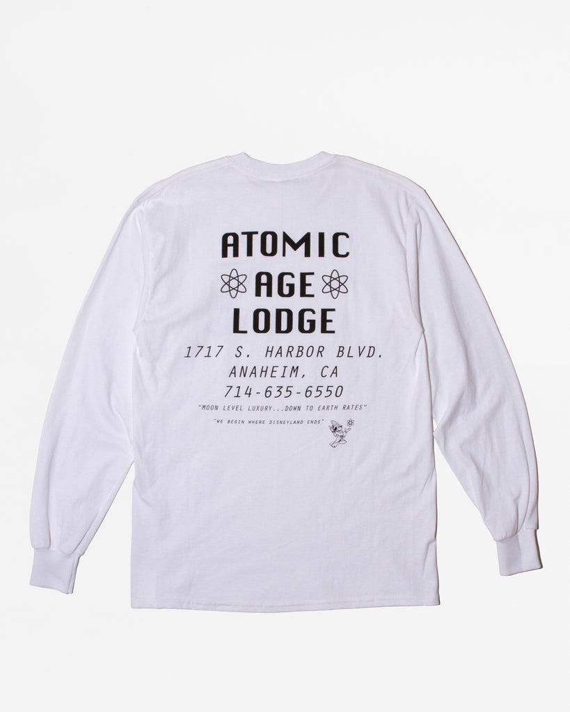 Atomic Lodge LS Shirt - White - Maiden Noir