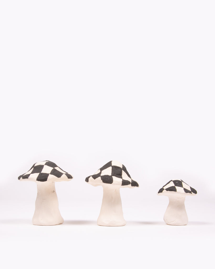 Shroom Ceramic Incense Holder - Check W
