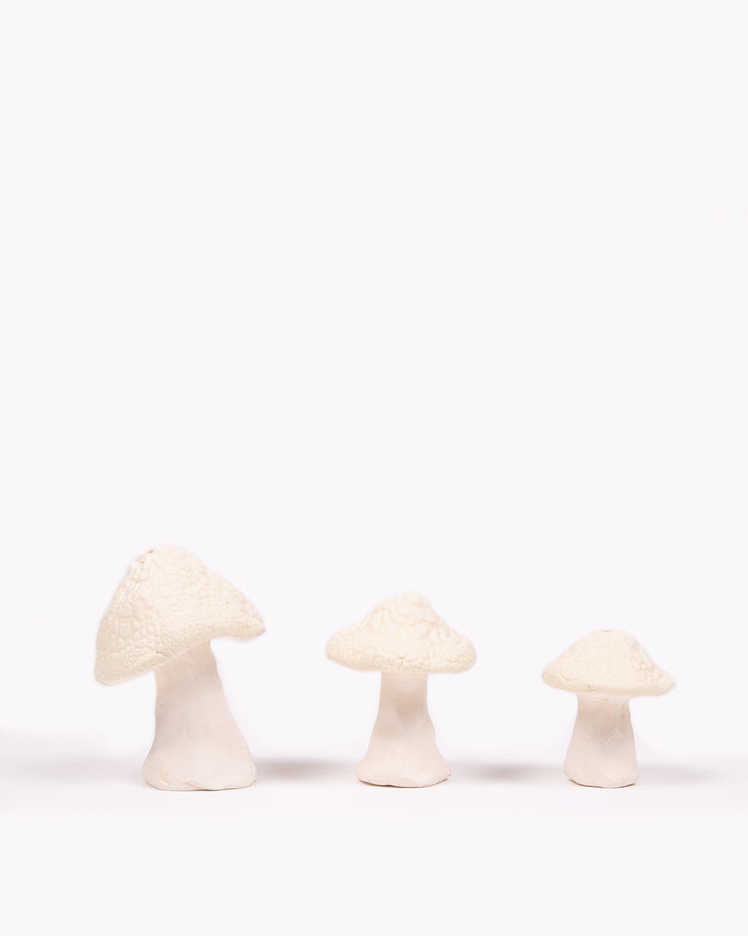 Shroom Ceramic Incense Holder - White Crawl