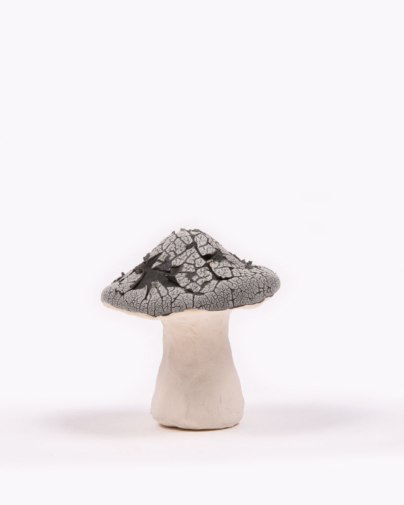 Shroom Ceramic Incense Holder - Cracked Glaze